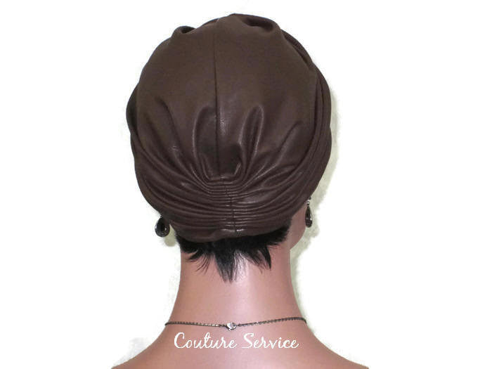 Handmade Leather Turban, Brown - Couture Service  - 4