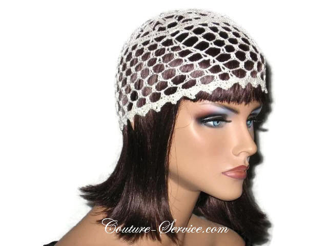 Handmade Picot Edge Lace Cloche, Black - Couture Service  - 4