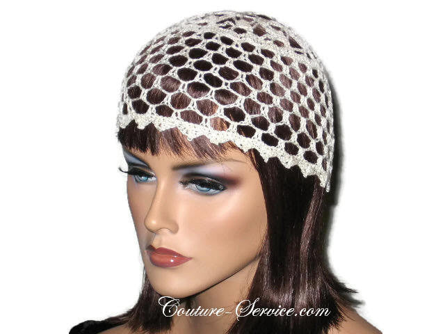 Handmade Picot Edge Lace Cloche, Black - Couture Service  - 1