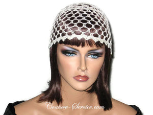 Handmade Picot Edge Lace Cloche, Black - Couture Service  - 5