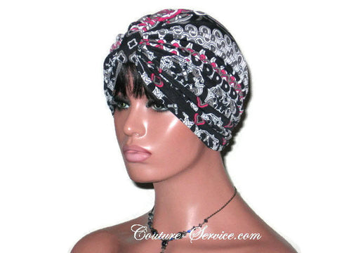 Handmade Black Turban, Double Knot, Abstract - Couture Service  - 1