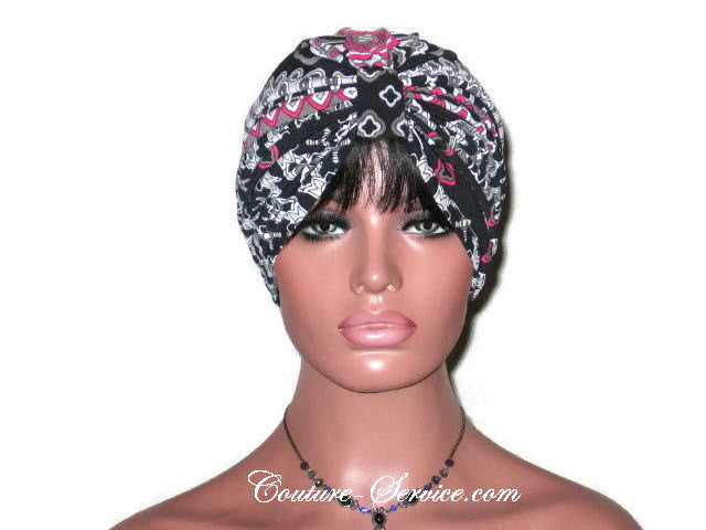 Handmade Black Turban, Double Knot, Abstract - Couture Service  - 2