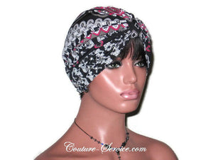 Handmade Black Turban, Double Knot, Abstract - Couture Service  - 3
