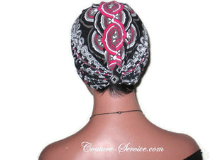Handmade Black Turban, Double Knot, Abstract - Couture Service  - 4