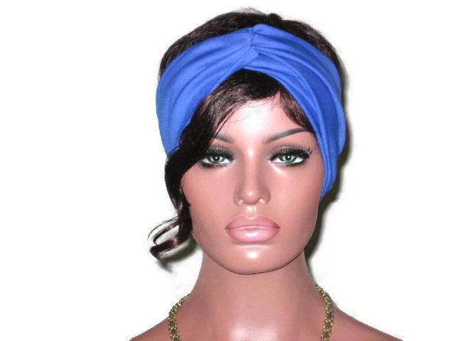 Handmade Blue Bandeau Headband Turban, Royal - Couture Service  - 2