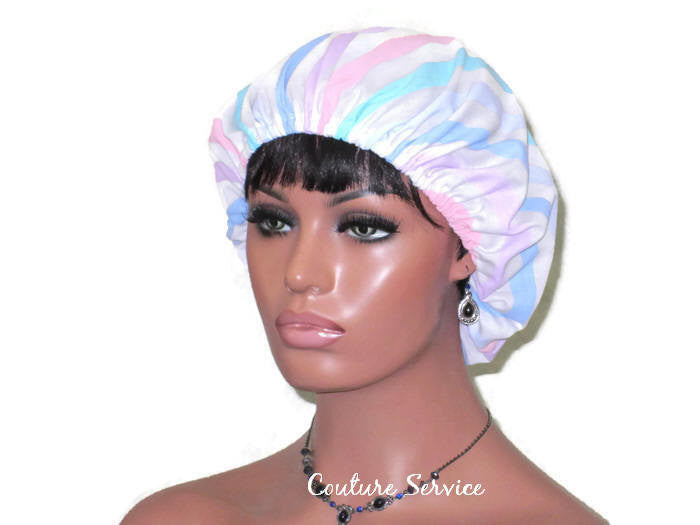 Handmade Scrub Hat, Pastel, Striped - Couture Service  - 1