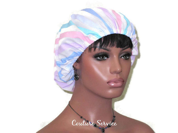 Handmade Scrub Hat, Pastel, Striped - Couture Service  - 3