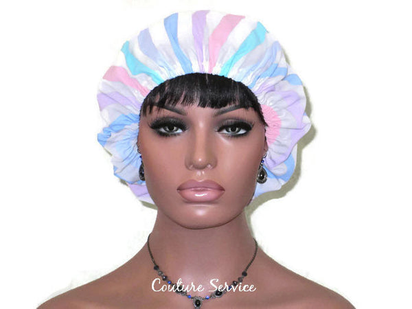 Handmade Scrub Hat, Pastel, Striped - Couture Service  - 2