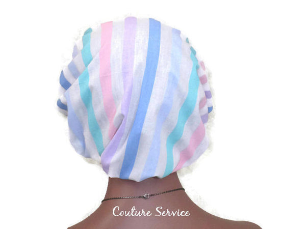 Handmade Scrub Hat, Pastel, Striped - Couture Service  - 4