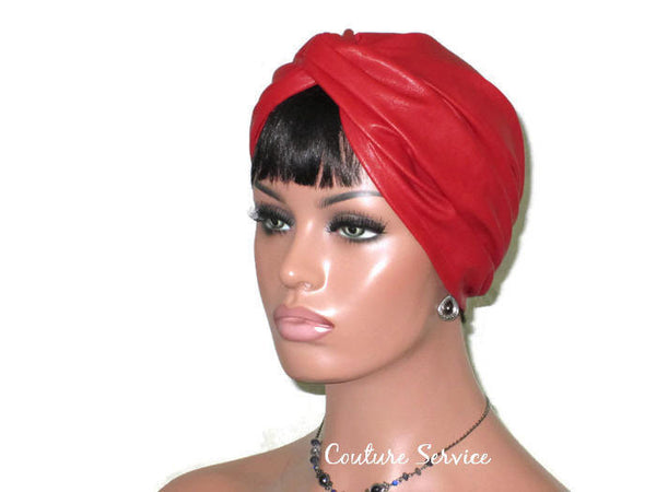 Handmade Leather Turban, Red - Couture Service  - 2