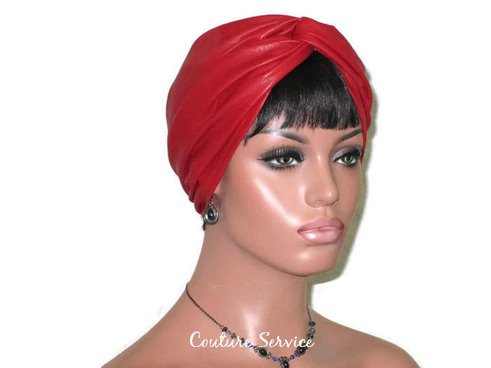 Handmade Leather Turban, Red - Couture Service  - 4