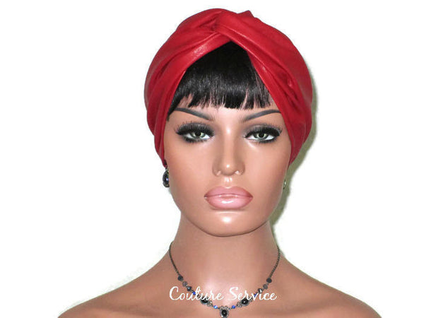 Handmade Leather Turban, Red - Couture Service  - 1