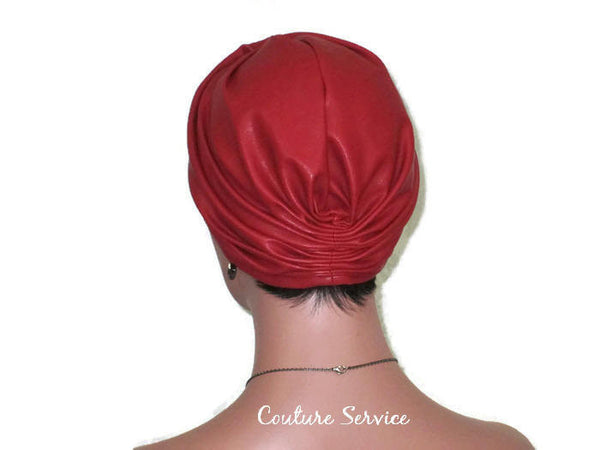 Handmade Leather Turban, Red - Couture Service  - 3