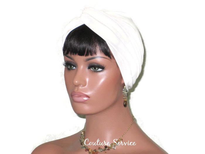 Handmade Leather Turban, Ivory - Couture Service  - 1