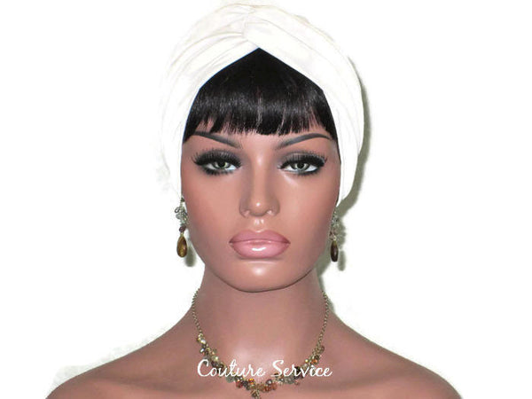 Handmade Leather Turban, Ivory - Couture Service  - 2