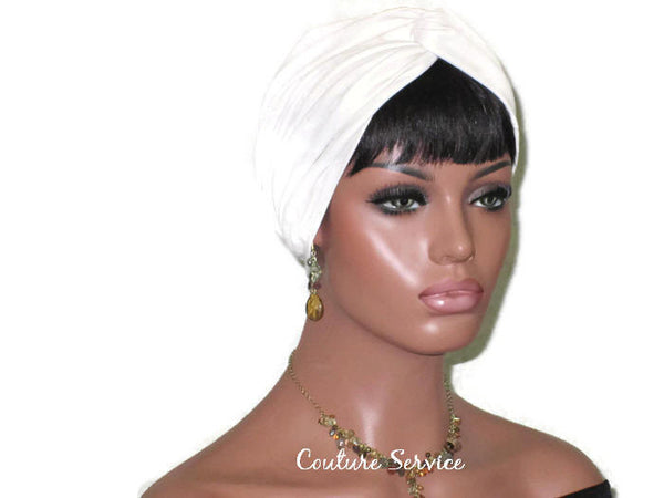 Handmade Leather Turban, Ivory - Couture Service  - 3