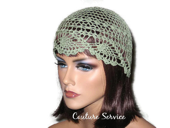 Handmade Green Pineapple Lace Cloche, Frost - Couture Service  - 2