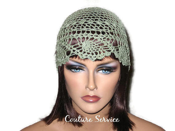 Handmade Green Pineapple Lace Cloche, Frost - Couture Service  - 1