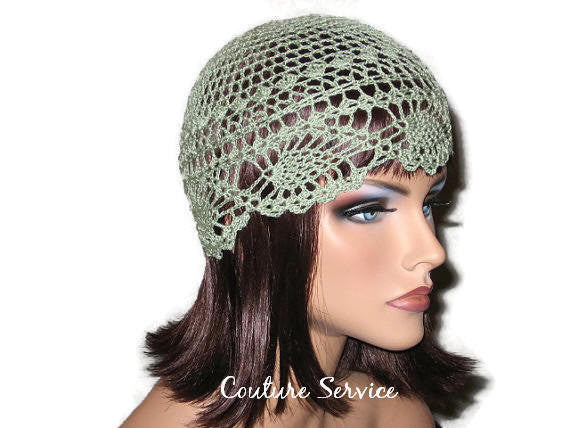 Handmade Green Pineapple Lace Cloche, Frost - Couture Service  - 3