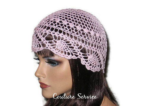 Handmade Pink Pineapple Lace Cloche - Couture Service  - 1