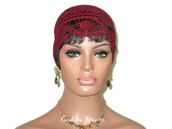 Handmade Burgundy Pineapple Lace Cloche - Couture Service  - 2