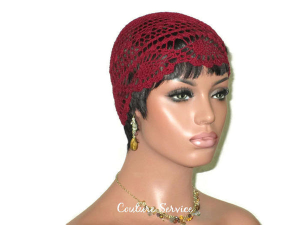 Handmade Burgundy Pineapple Lace Cloche - Couture Service  - 3