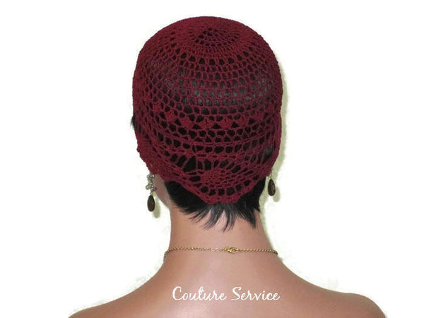 Handmade Burgundy Pineapple Lace Cloche - Couture Service  - 4
