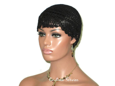 Handmade Black Pineapple Lace Cloche - Couture Service  - 1