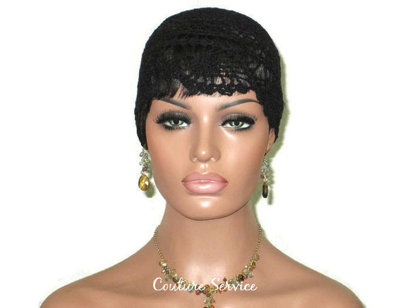 Handmade Black Pineapple Lace Cloche - Couture Service  - 2