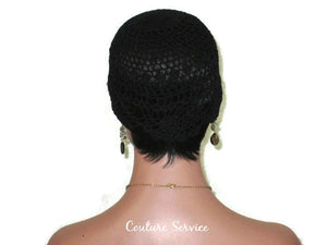 Handmade Black Pineapple Lace Cloche - Couture Service  - 4