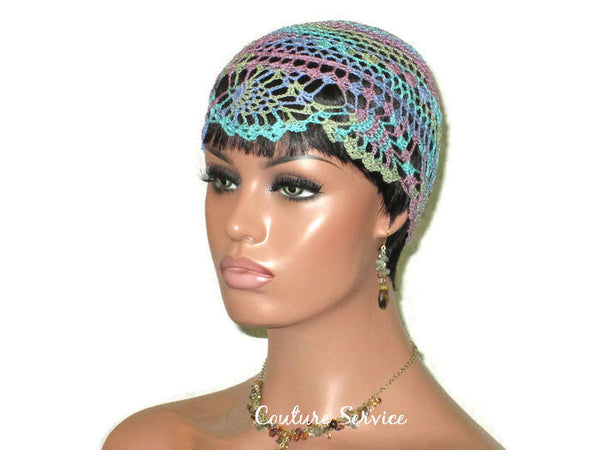 Handmade Blue Pineapple Lace Cloche, Monet Variegate - Couture Service  - 1