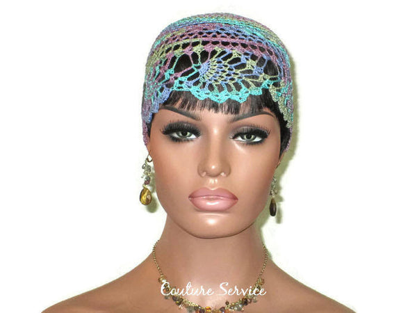 Handmade Blue Pineapple Lace Cloche, Monet Variegate - Couture Service  - 2