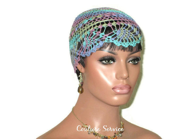 Handmade Blue Pineapple Lace Cloche, Monet Variegate - Couture Service  - 3