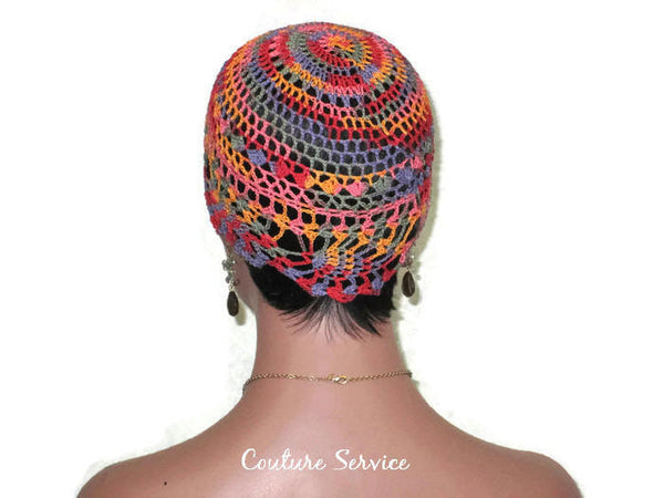 Handmade Orange Pineapple Lace Cloche, Passionata Variegate - Couture Service  - 4