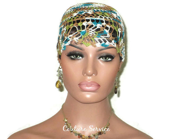 Handmade Green Pineapple Lace Cloche, Teal, Variegate - Couture Service  - 2