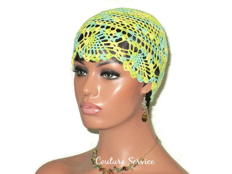 Handmade Yellow Pineapple Lace Cloche, Lime, Variegate - Couture Service  - 1