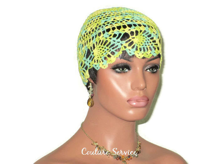 Handmade Yellow Pineapple Lace Cloche, Lime, Variegate - Couture Service  - 3