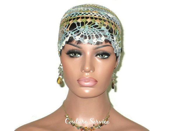 Handmade Brown Sienna Pineapple Lace Cloche, Variegate - Couture Service  - 2