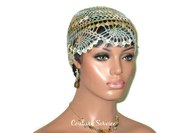 Handmade Brown Sienna Pineapple Lace Cloche, Variegate - Couture Service  - 3
