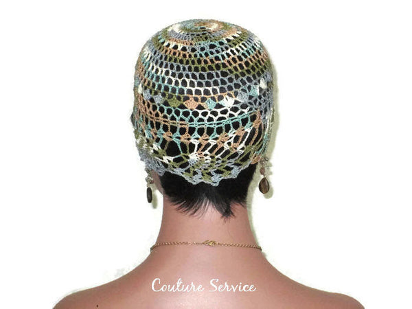 Handmade Brown Sienna Pineapple Lace Cloche, Variegate - Couture Service  - 4