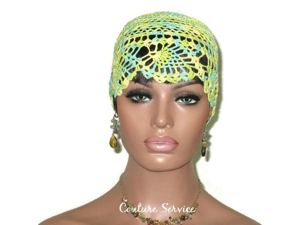 Handmade Yellow Pineapple Lace Cloche, Lime, Variegate - Couture Service  - 2