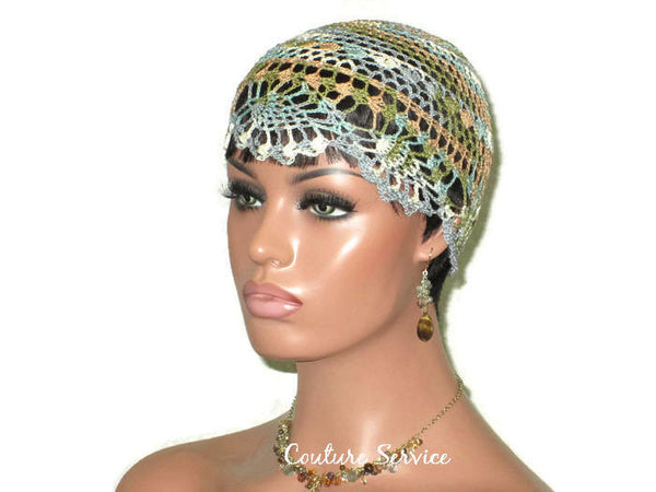 Handmade Brown Sienna Pineapple Lace Cloche, Variegate - Couture Service  - 1