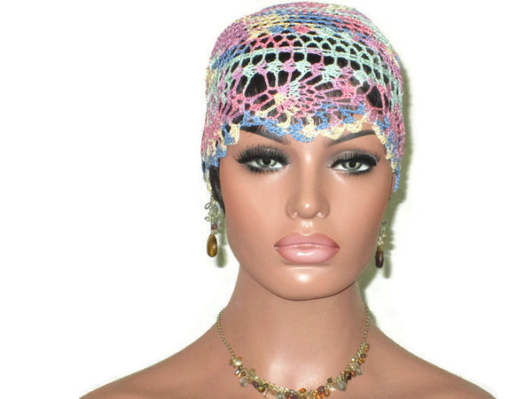 Handmade Pink Pineapple Lace Cloche, Pastel, Variegate - Couture Service  - 2