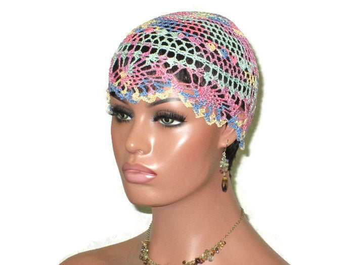 Handmade Pink Pineapple Lace Cloche, Pastel, Variegate - Couture Service  - 1