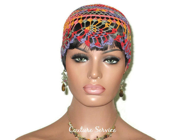 Handmade Orange Pineapple Lace Cloche, Passionata Variegate - Couture Service  - 2