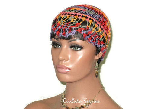 Handmade Orange Pineapple Lace Cloche, Passionata Variegate - Couture Service  - 1