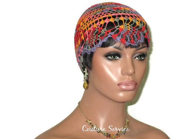 Handmade Orange Pineapple Lace Cloche, Passionata Variegate - Couture Service  - 3