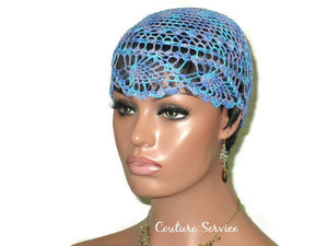 Handmade Blue Pineapple Lace Cloche, Windsor Variegate - Couture Service  - 1