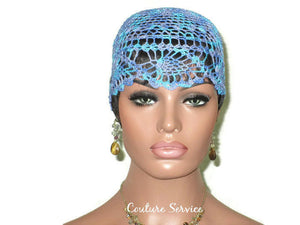 Handmade Blue Pineapple Lace Cloche, Windsor Variegate - Couture Service  - 2
