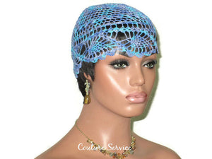 Handmade Blue Pineapple Lace Cloche, Windsor Variegate - Couture Service  - 3